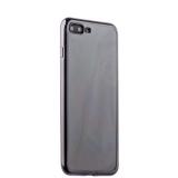 Силиконовый чехол - накладка для iPhone 8 Plus - Deppa Gel Plus Case (D - 85258) (0.9 мм), цвет прозрачный (черный глянцевый борт)