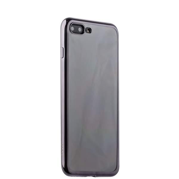 Чехол-накладка силикон Deppa Gel Plus Case D-85258 для iPhone 8 Plus (5.5) 0.9 мм Черный глянцевый борт