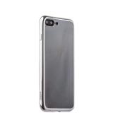 Силиконовый чехол - накладка для iPhone 8 Plus - Deppa Gel Plus Case (D - 85255) (0.9 мм), цвет прозрачный (серебристый глянцевый борт)