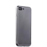 Силиконовый чехол - накладка для iPhone 8 Plus - Deppa Gel Plus Case (D - 85255) (0.9 мм), цвет прозрачный (графитовый глянцевый борт)