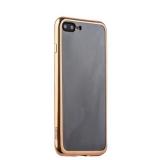 Силиконовый чехол - накладка для iPhone 8 Plus - Deppa Gel Plus Case (D - 85261) (0.9 мм), цвет прозрачный (золотистый глянцевый борт)