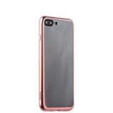 Силиконовый чехол - накладка для iPhone 8 Plus - Deppa Gel Plus Case (D - 85262) (0.9 мм), цвет прозрачный (розовое золото глянцевый борт)