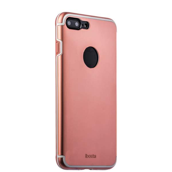 Накладка металлическая iBacks Premium Aluminium case для iPhone 8 Plus (5.5) - Essence (ip60358) Rose Gold Розовое зол.