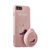 Силиконовый чехол - накладка для iPhone 8 Plus iBacks Lady's 2 - piece Suit + набор Бегущий Кот зеркало & гребень, цвет розовый