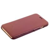 Чехол Fashion Case для iPhone 6s Plus/ 6 Plus (5.5) кожаный книжка боковая коричневый