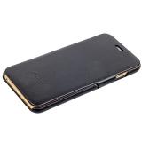 Чехол Fashion Case для iPhone 6s Plus/ 6 Plus (5.5) кожаный книжка боковая черный