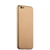 Силиконовый чехол - накладка для iPhone 6S Plus J - Case Delicate Series Matt (0.5 мм), цвет золотистый