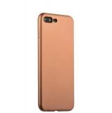 Силиконовый чехол - накладка для iPhone 8 Plus J - Case Delicate Series Matt (0.5 мм), цвет розовое золото