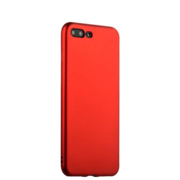 Чехол-накладка силиконовый J-case Delicate Series Matt 0.5mm для iPhone 8 Plus (5.5) Красный