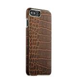 Кожаный чехол - накладка для iPhone 8 Plus XOOMZ Electroplating Crocodile Embossed Genuine, цвет коричневый