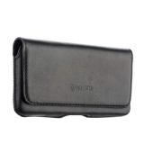 Кожаный чехол - кобура на ремень Valenta Arezzo (C - 918 4XL) для смартфонов - 5.0, цвет черный