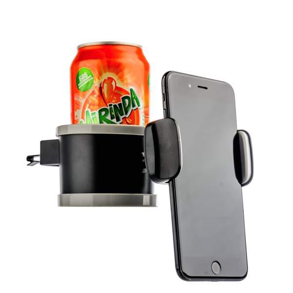 Автомобильный держатель для смартфонов и напитков COTEetCI ST - 07 (ST3107 - BK) в решетку (ширина 100 мм), цвет черный