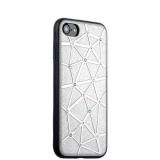 Силиконовый чехол - накладка для iPhone 7 COTEetCI Star Diamond Case (CS7032 - TS),цвет серебристый