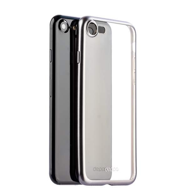 Чехол-накладка силикон Deppa Gel Plus Case D-85283 для iPhone 8 (4.7) 0.9 мм Графитовый матовый борт