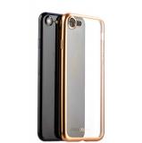 Чехол-накладка силикон Deppa Gel Plus Case D-85284 для iPhone 7 (4.7) 0.9 мм Золотистый матовый борт