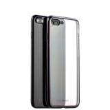 Силиконовый чехол - накладка для iPhone 8 Plus - Deppa Gel Plus Case D - 85286 (0.9 мм), цвет прозрачный (черный борт)