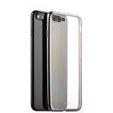 Силиконовый чехол - накладка для iPhone 8 Plus - Deppa Gel Plus Case D - 85288 (0.9 мм), цвет прозрачный (графитовый борт)