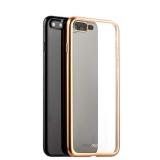 Силиконовый чехол - накладка для iPhone 8 Plus - Deppa Gel Plus Case D - 85289 (0.9 мм), цвет прозрачный (золотистый борт)