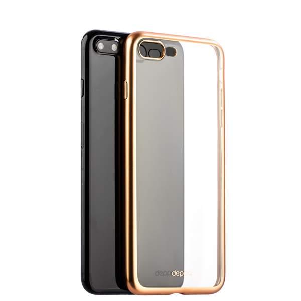 Чехол-накладка силикон Deppa Gel Plus Case D-85289 для iPhone 8 Plus (5.5) 0.9 мм Золотистый матовый борт