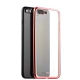 Силиконовый чехол - накладка для iPhone 8 Plus - Deppa Gel Plus Case D - 85290 (0.9 мм), цвет прозрачный (борт розовое золото)