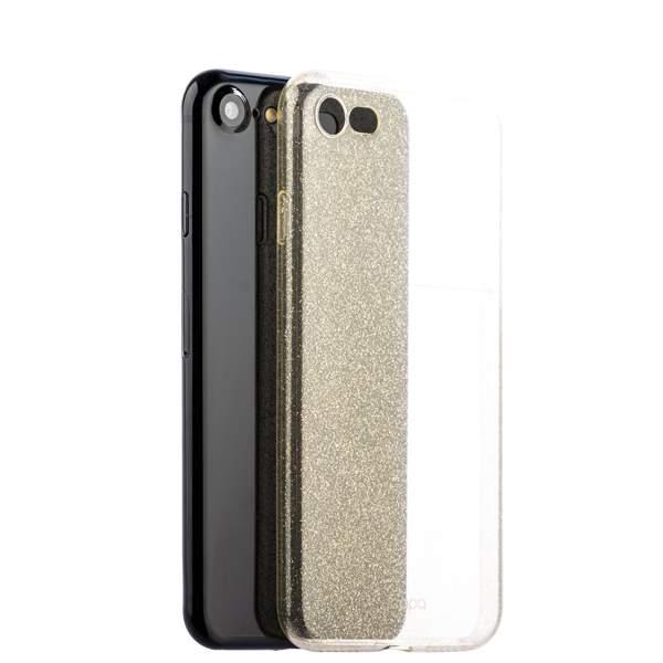 Чехол-накладка силикон Deppa Chic Case с блестками D-85297 для iPhone 8 (4.7) 0.8 мм Золотистый