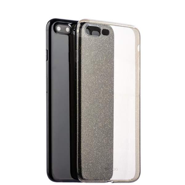 Чехол-накладка силикон Deppa Chic Case с блестками D-85301 для iPhone 8 Plus (5.5) 0.8 мм Черный