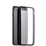 Супертонкий силиконовый чехол - накладка для iPhone 8 Plus - Deppa Neo Case D - 85280 (0.3 мм), прозрачный (черный борт)