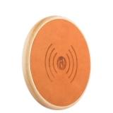 Беспроводное зарядное устройство iCarer Genuine Leather Fast Wireless charging (5 - 9V - 1A), цвет хаки