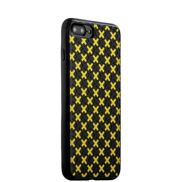 Чехол-накладка силиконовый COTEetCI College Case для iPhone 8 Plus (5.5) CS7036-BY Черно-желтый