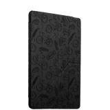 Полиуретановый чехол книжка для iPad 9.7 (2017 г.) Deppa Wallet Onzo с тиснением 1.0мм D - 88033, цвет темно - серый