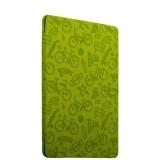 Полиуретановый чехол книжка для iPad 9.7 (2017 г.) Deppa Wallet Onzo с тиснением 1.0мм D - 88035, цвет зеленый