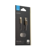 USB дата - кабель Deppa Jeans D - 72277 2.4А USB - USB Type-C 1.2м медь/ Джинсовая оплетка