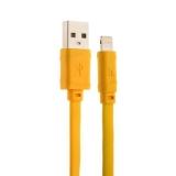 Lightning кабель USB Hoco X5 Bamboo Lightning (1.0 м), цвет желтый