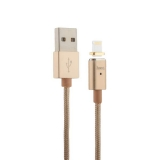 Lightning кабель USB магнитный Hoco U16 Magnetic adsorption Lightning (1.2 м), цвет золотистый
