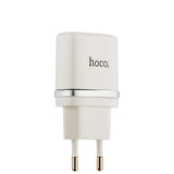 Сетевое зарядное устройство с кабелем Lightning Hoco C11 Smart single USB charger set (USB: 5V max 1.0A), цвет белый