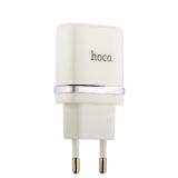 Адаптер питания Hoco C11 Smart single USB charger set + Cable MicroUSB (USB: 5V max 1.0A) Белый