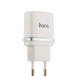 Сетевое зарядное устройство с кабелем MicroUSB Hoco C12 Smart dual USB charger set (2USB: 5V max 2.4A), цвет белый