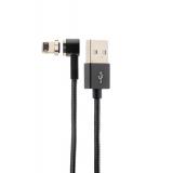 Lightning кабель USB магнитный Hoco U20 L shape Magnetic adsorption Lightning (1.0 м), цвет черный