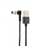 Lightning кабель USB магнитный Hoco U20 L shape Magnetic adsorption Lightning (1.0 м), цвет черный