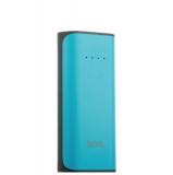 Внешний аккумулятор Hoco B21 Tiny Concave pattern Power bank (USB выход: 5V 1A) - 5200 mAh Blue, цвет голубой