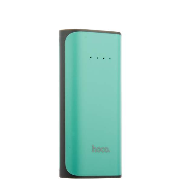 Внешний аккумулятор Hoco B21 Tiny Concave pattern Power bank (USB выход: 5V 1A) - 5200 mAh Cyan, цвет бирюзовый
