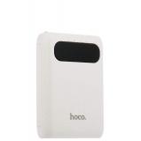 Внешний аккумулятор Hoco B20 Mige Power Bank (2 USB: 5V - 2.1A) - 10000 mAh White, цвет белый