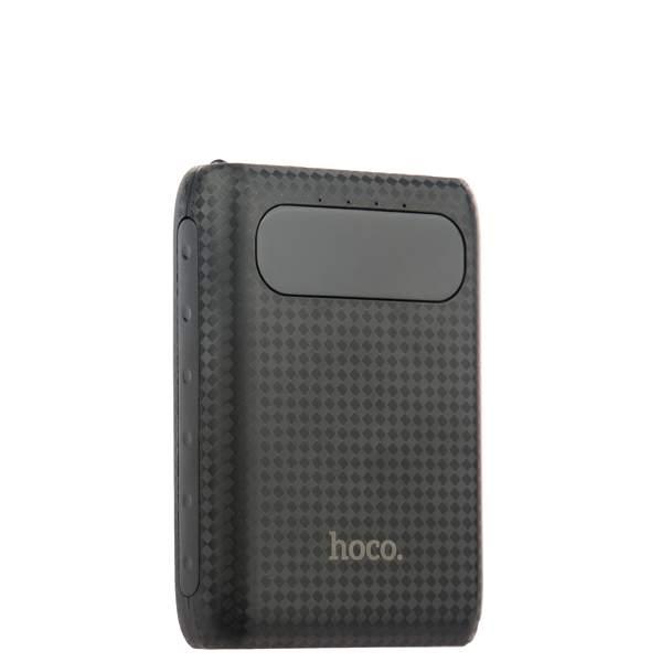Внешний аккумулятор Hoco B20 Mige Power Bank (2 USB: 5V - 2.1A) - 10000 mAh Black, цвет черный
