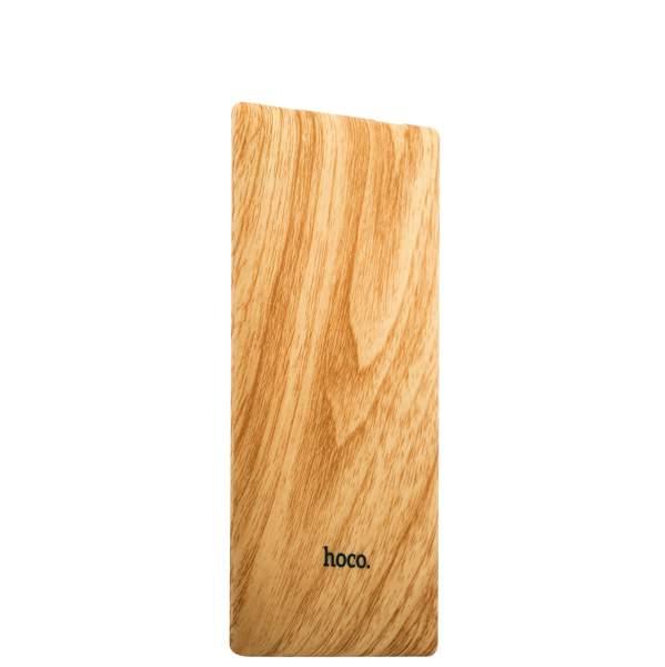 Внешний аккумулятор Hoco B10 Wood power bank (USB: 5V - 2.1A) - 7000 mAh Crude wood, цвет древесный