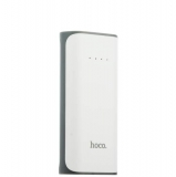 Внешний аккумулятор Hoco B21 Tiny Concave pattern Power bank (USB выход: 5V 1A) - 5200 mAh White, цвет белый