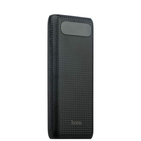 Внешний аккумулятор Hoco B20A Mige Power Bank (USB: 5V - 2.1A) - 20000 mAh Black, цвет черный