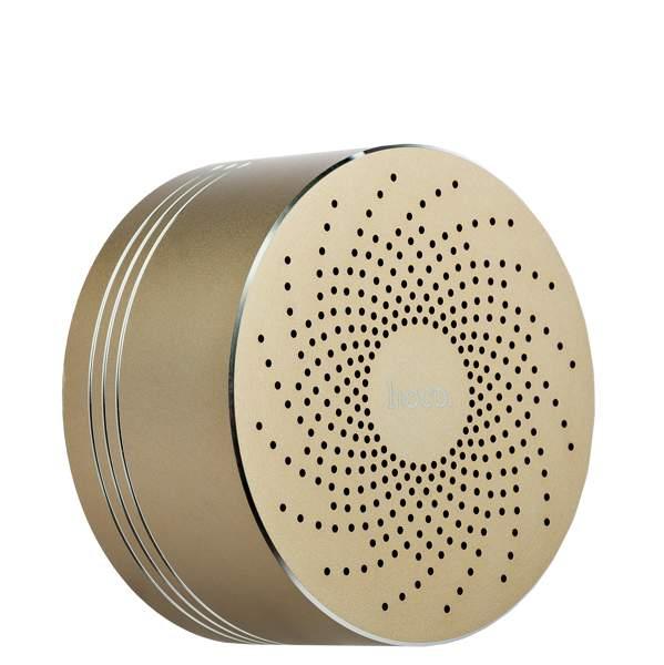 Портативная Bluetooth колонка Hoco BS5 Swirl wireless speaker Gold, цвет золотистый