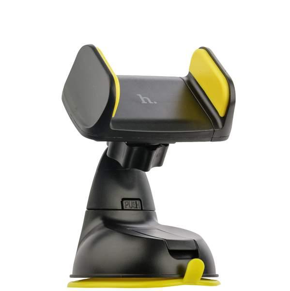 Автомобильный держатель для смартфонов Hoco CA5 Suction vehicle holder на присоске (ширина 85 мм), цвет желтый