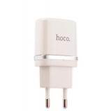 Сетевое зарядное устройство Hoco C11 Smart single USB charger (USB: 5V max 1.0A), цвет белый