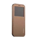 Силиконовый чехол - книжка для iPhone X Coblue Elegance Flip Cover Series, цвет золотистый